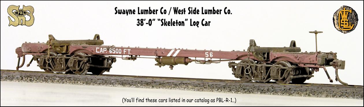 West Side Lumber Co Swayne Lumber Co 38 0 Skeleton Log Car